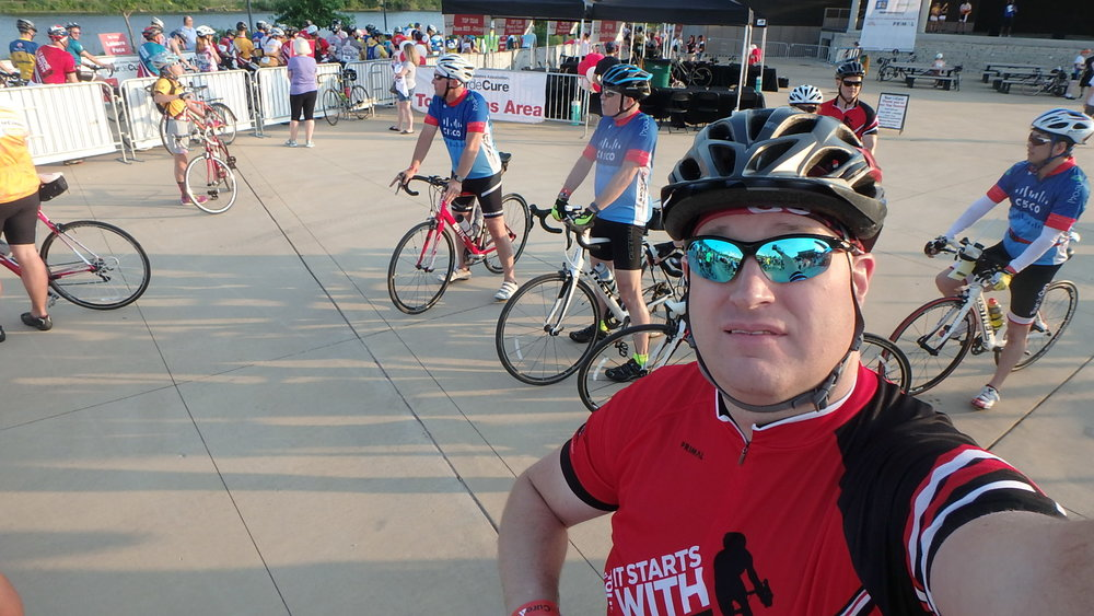 Start line, Tour De Cure Chicagoland, 2017