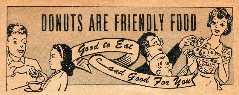 Vintage Donut Advertisement