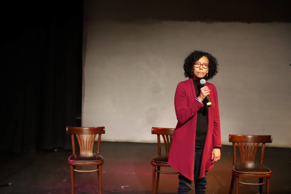 Margo Hall encouraged the audience to complicate black stereotypes. (Sam Lefebvre:KQED).jpg