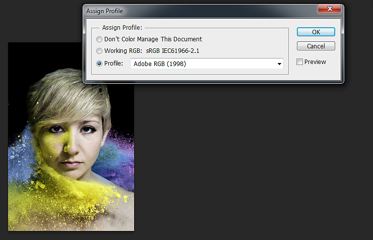 In Photoshop go to Edit->Assign Profile and see what your photos will look like with different profiles attached. The differences can be pretty major.