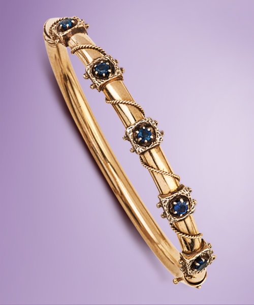 jewelry bangle sapphire category violet in miller bozeman set bangles of bracelets channel mt white gold yogo montana s