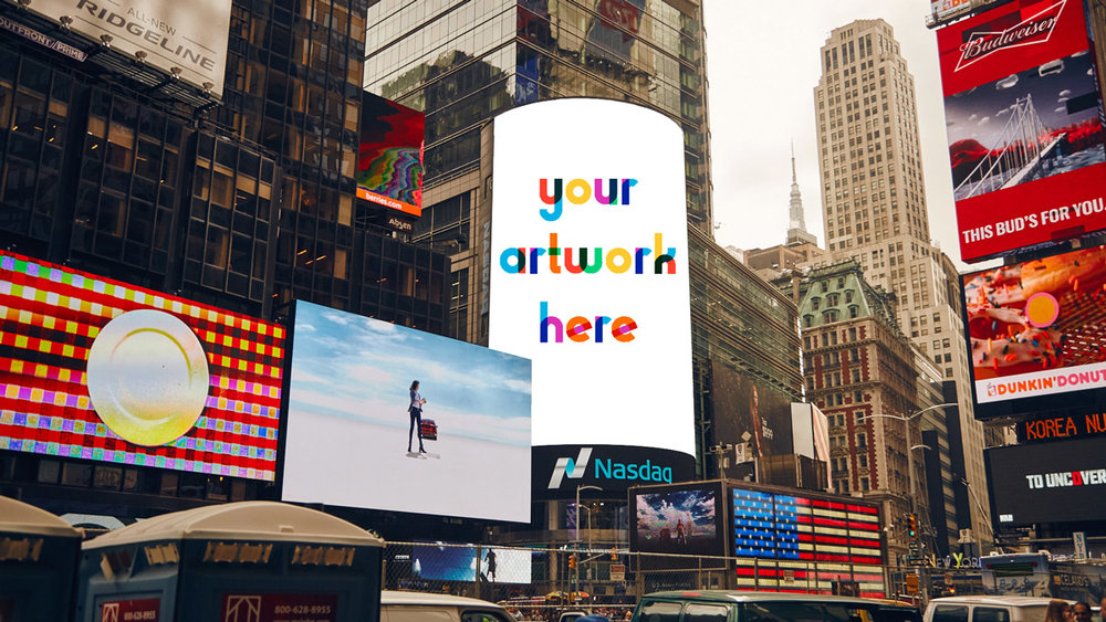 Grand prize winners will be featured on Times Square's digital billboards. Yeah!!!!