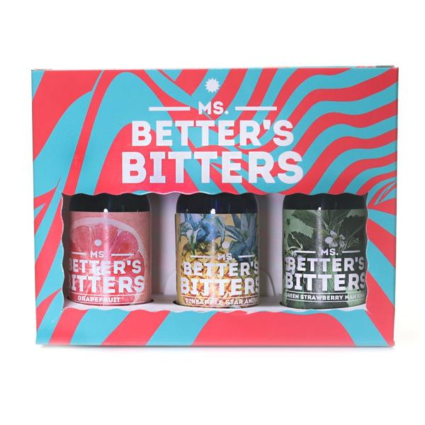 Ms Better's Bitters - New Wave 3 x 30ml Pack (Grapefruit/Pineapple/Strawberry)
