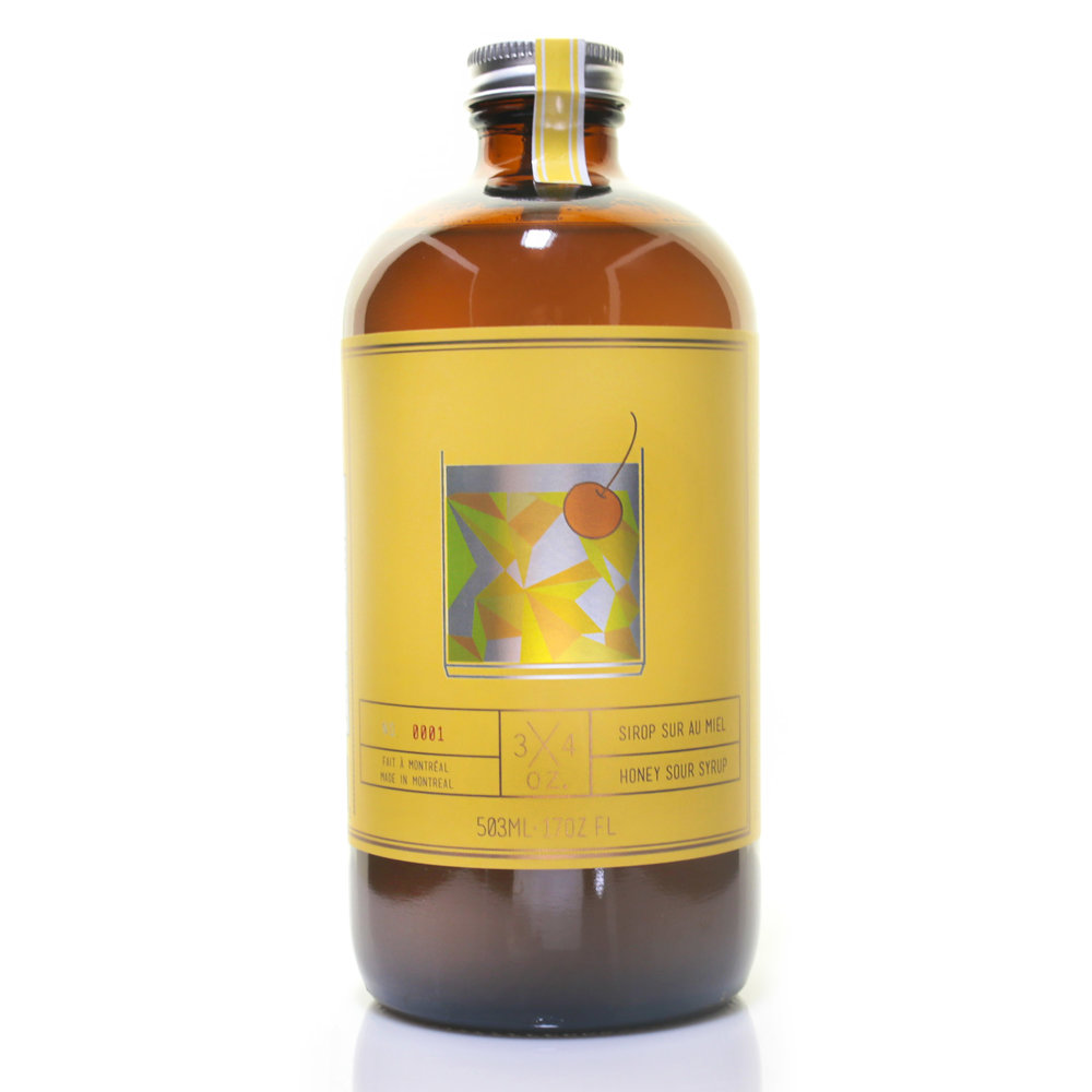 3/4 OZ - Handcrafted Honey Sour Syrup 500ml