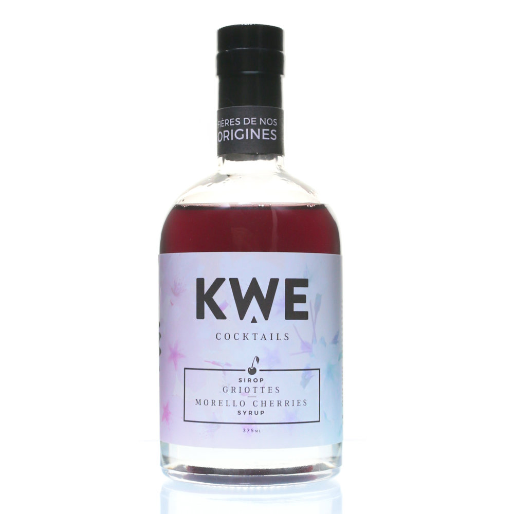 Kwe Cocktails - Morello Cherries (Griottes) Syrup 375ml