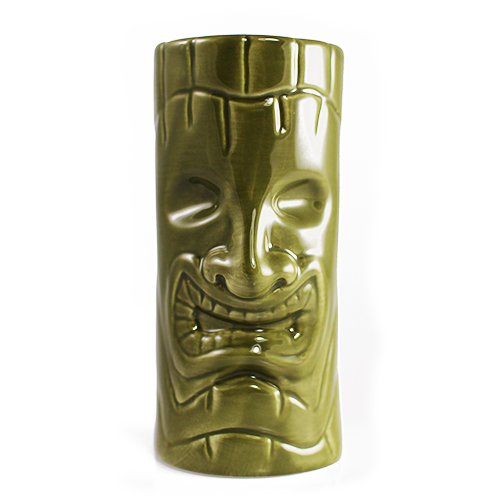 Tiki Mug - Green Grin 12oz