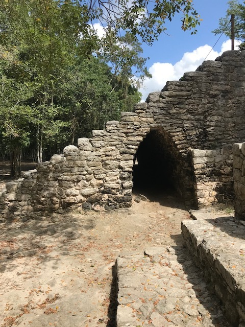 True story, that archway was the coolest part of the ruins of Coba, it was so breezy in there!