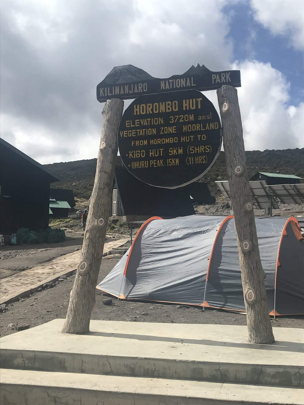 Horombo huts! Now at 14,000' above sea level.