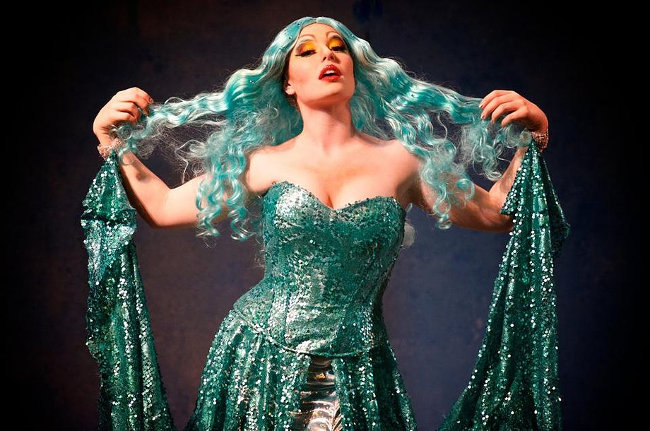 Sara Ramirez as 'Lady of the Lake' in Spamalot.