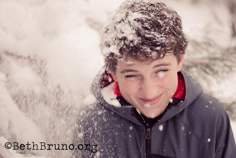 SnowFallingTeenBoy