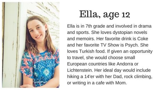 Ella, age 12