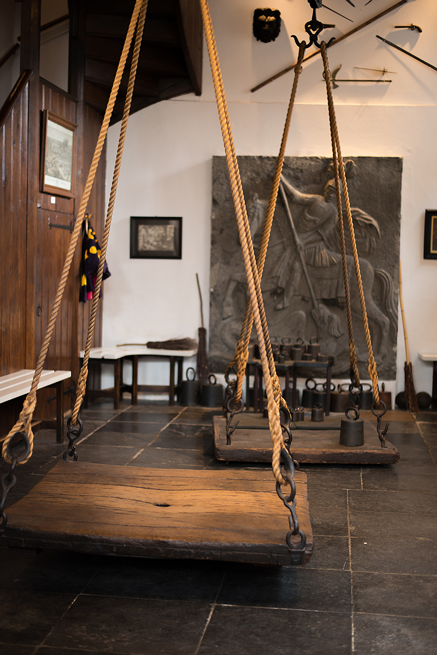 The scales used to weigh women accused of witchcraft
