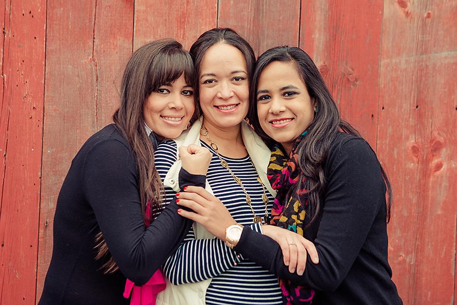 Yolannie, Gissela (9 months pregnant), and Maria