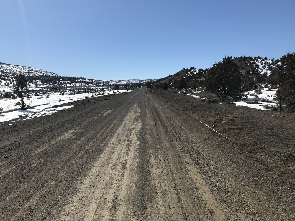 Highway 27, Oregon's only unpaved State Highway