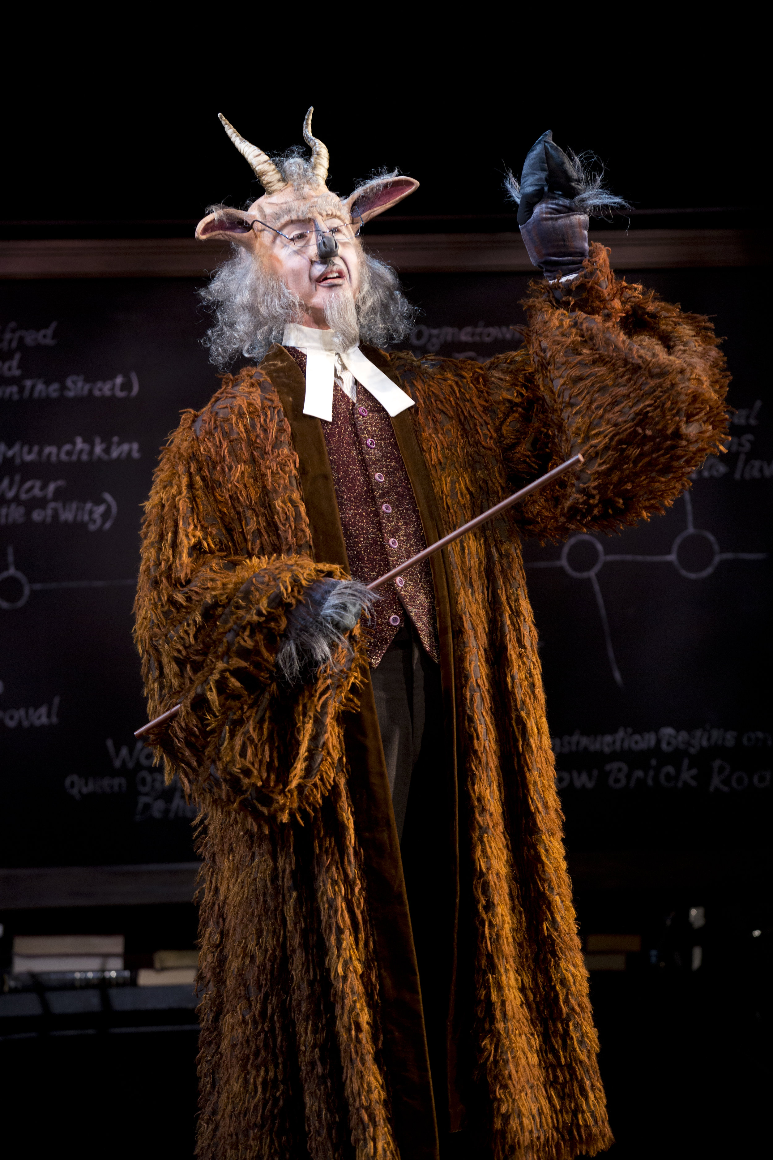Dr. Dillamond (Jay Russell) is a loved history teacher who faces the abuses of animal intolerance. Photo: Joan Marcus