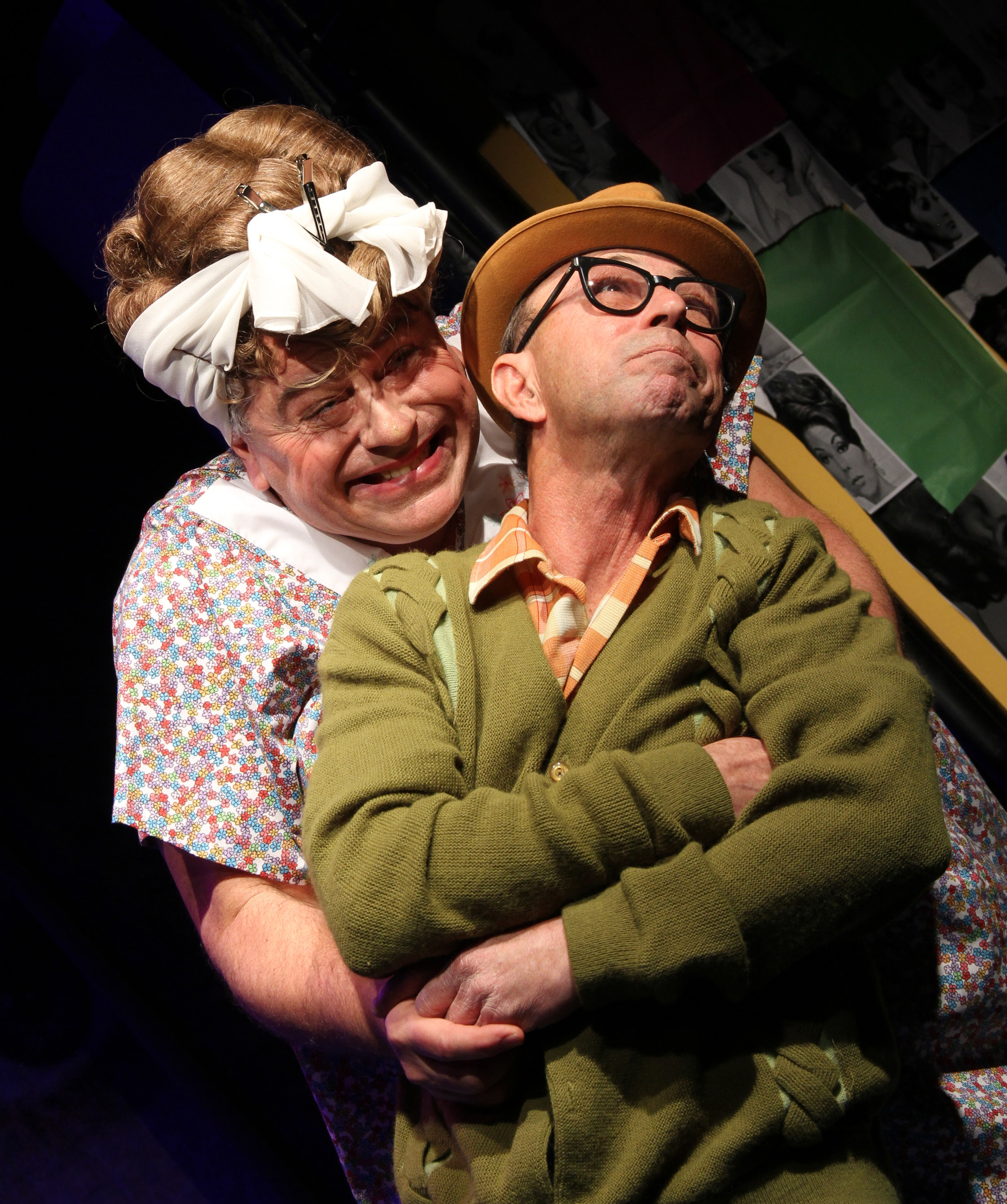 Tracy's oddball parents, Edna (Steve Hayes) and Wilbur (Jim Byrne). Photo: Teri Dobrzynski