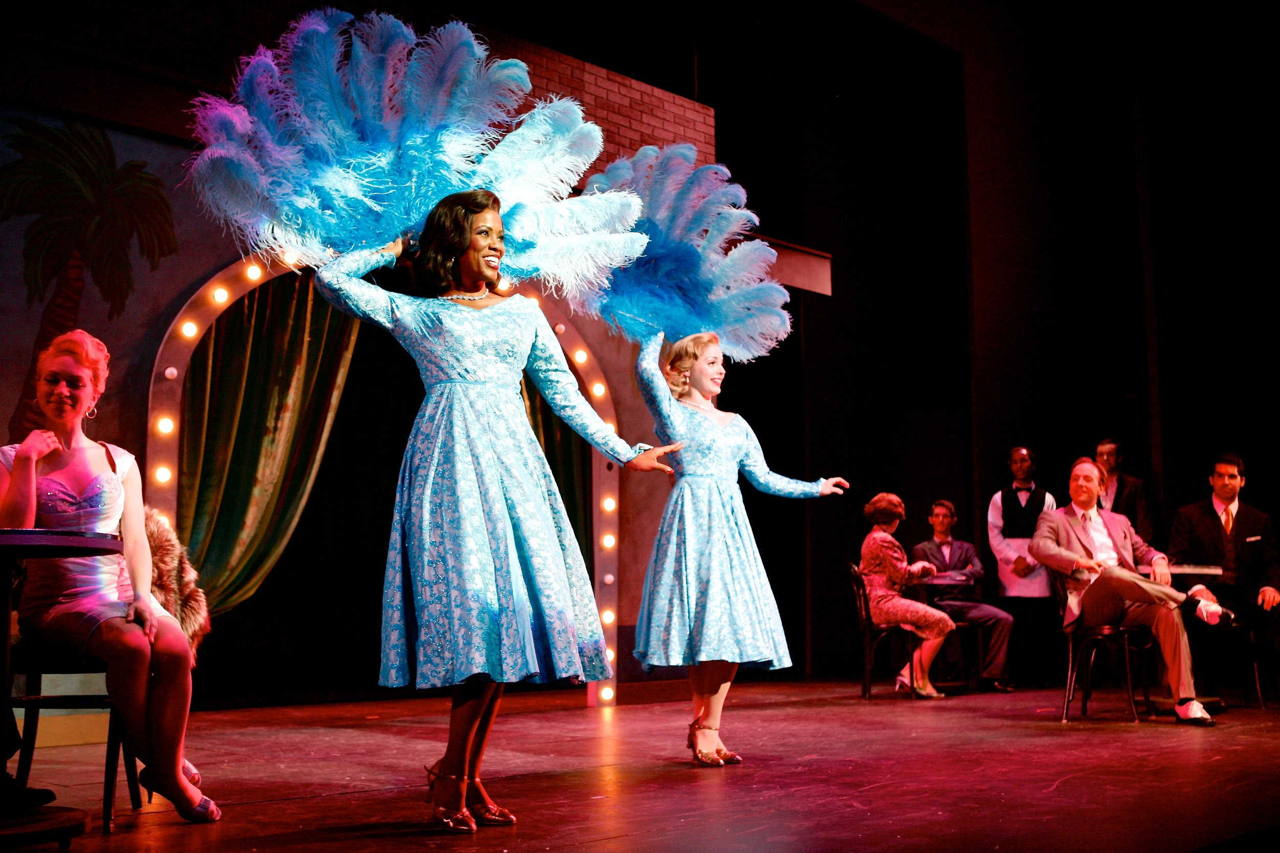 """The Haynes Sisters, (Left, Zakiya Young and Mary Michael Patterson) perform their song, """"Sisters.""""Photo: Michael Davis"""
