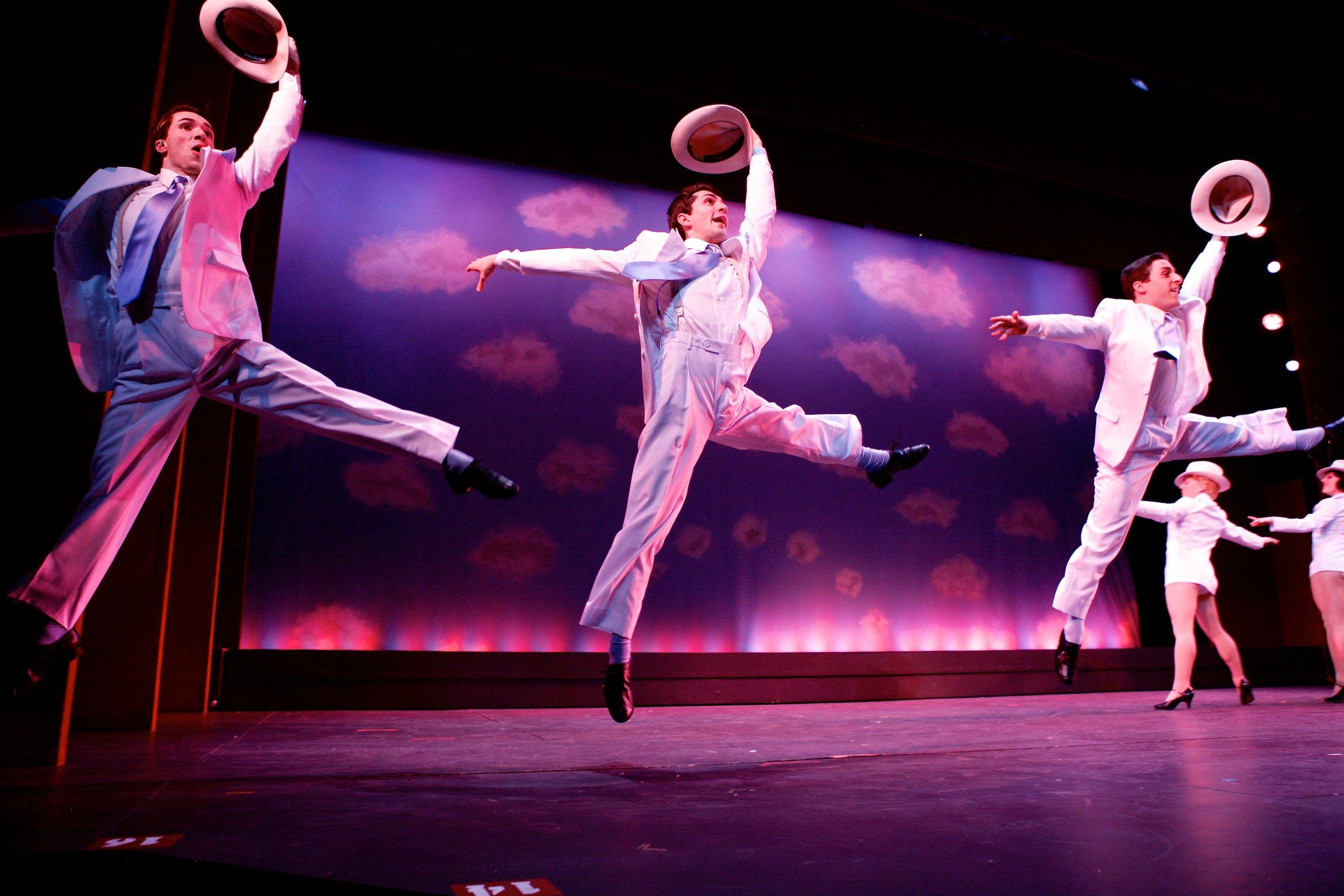 Ensemble members performing in 'White Christmas,' choreographed by David Wanstreet.Photo: Michael Davis