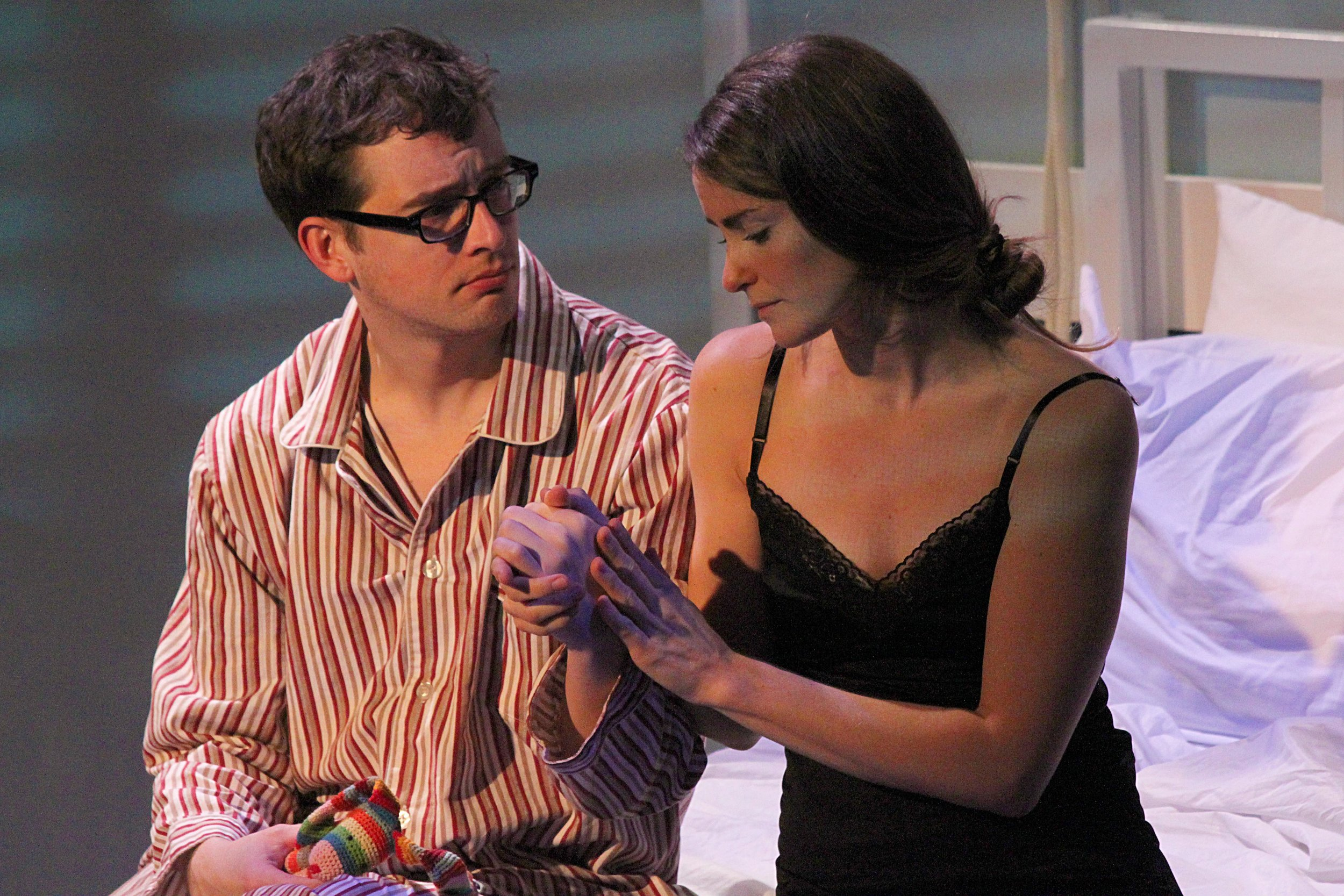 Adam Perabo and Kate Metroka as Carl and Anna in Paula Vogel's play 'The Baltimore Waltz.' Photo: Jessie Dobrzynski