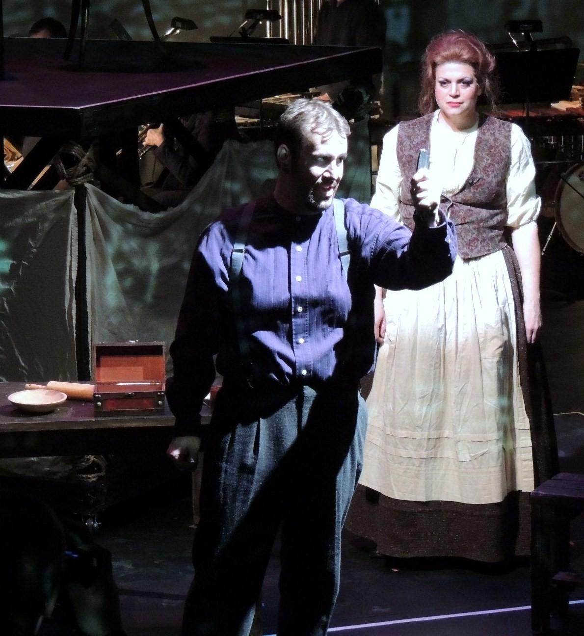 Kyle Albertson (Sweeney Todd) and Jennifer Roderer (Mrs. Lovett) in Syracuse Opera's 'Sweeney Todd.'Photo: Syracuse Opera