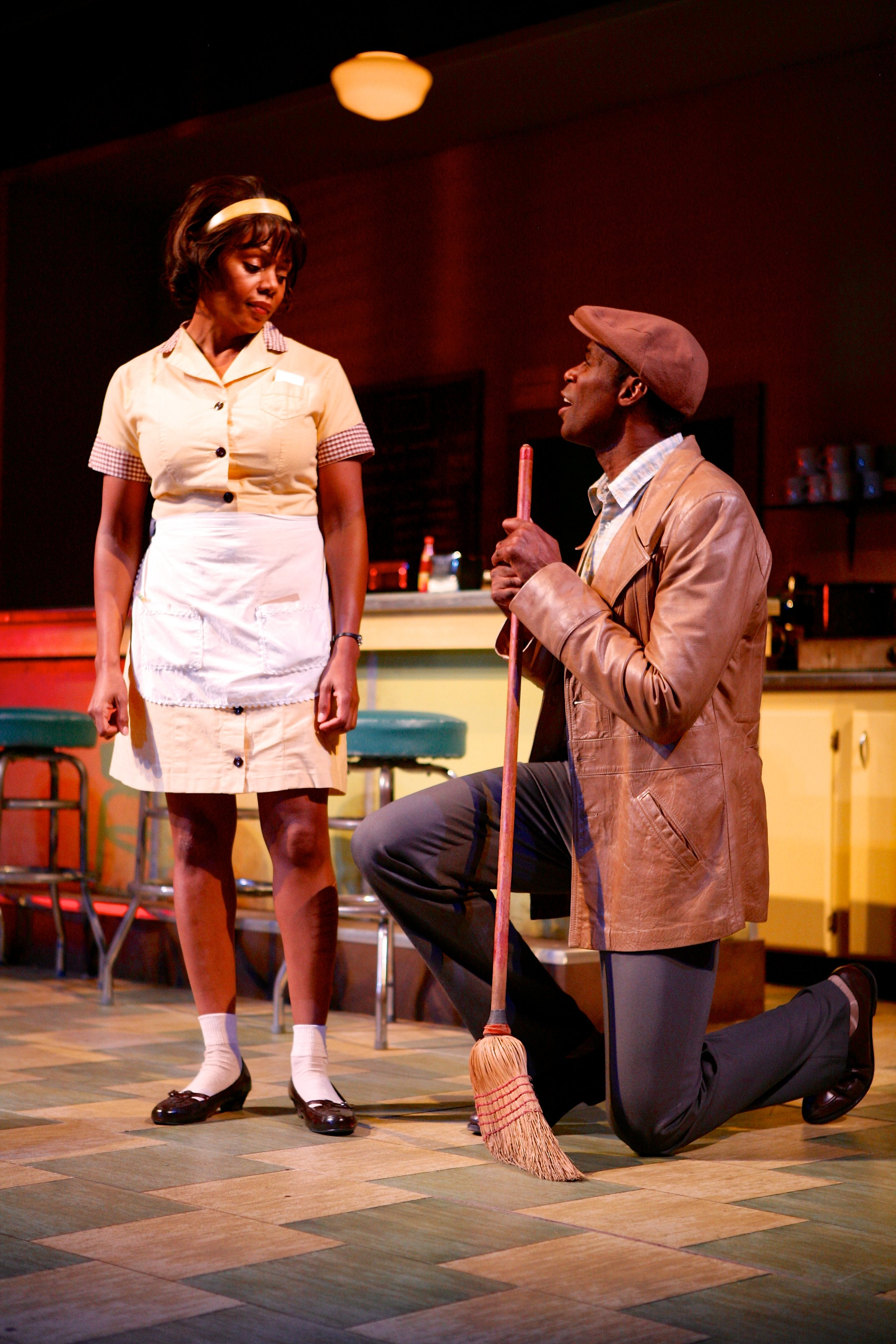 Sterling (Robert Manning, Jr.) tires to woo the comely Risa (Erika LaVonn).Photo: Michael Davis