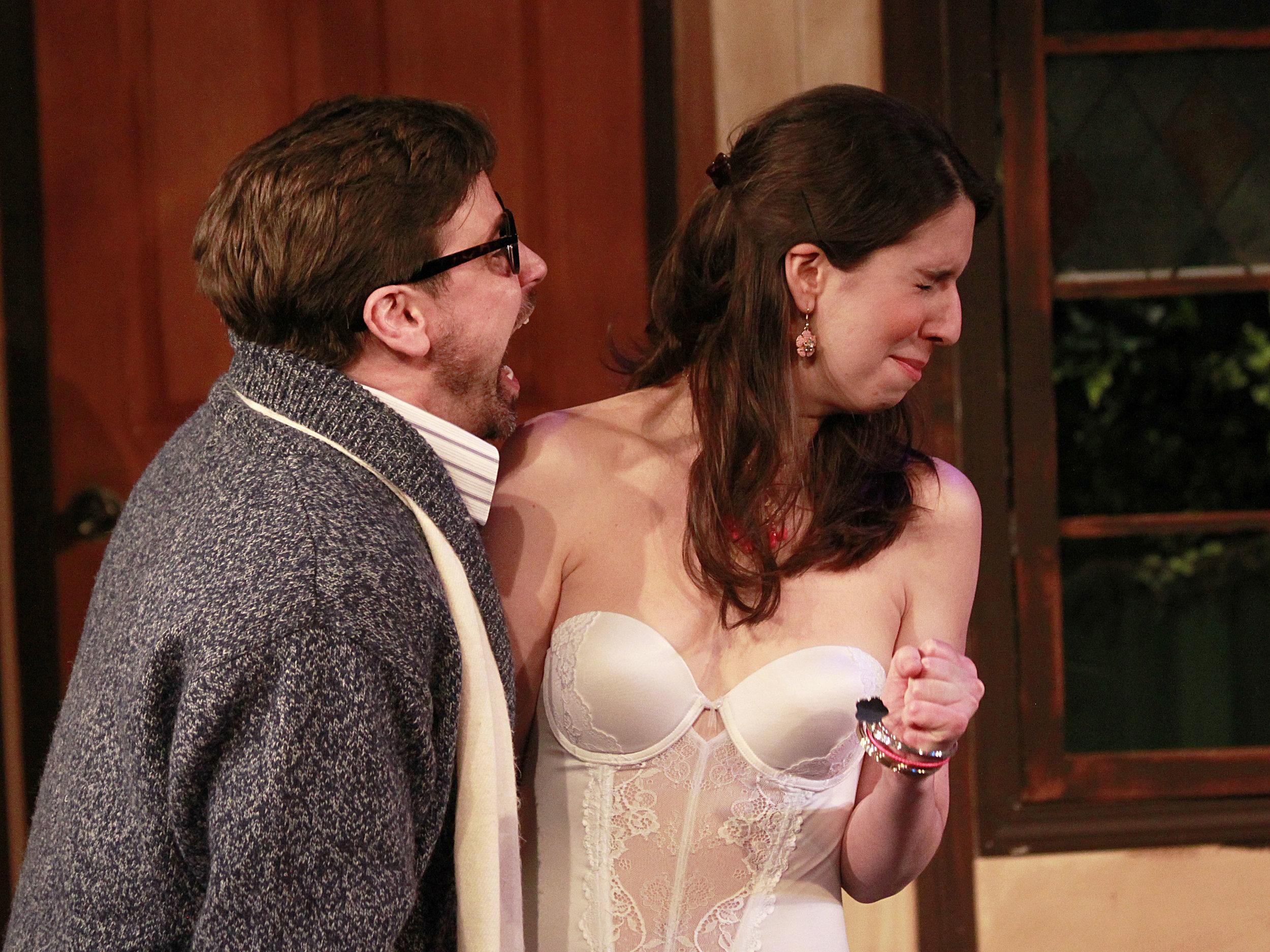 John Bixler as the ever professional director Lloyd and the lovable Brooke, played by Carmen Crafts. Photo: Jessie Dobrzynski