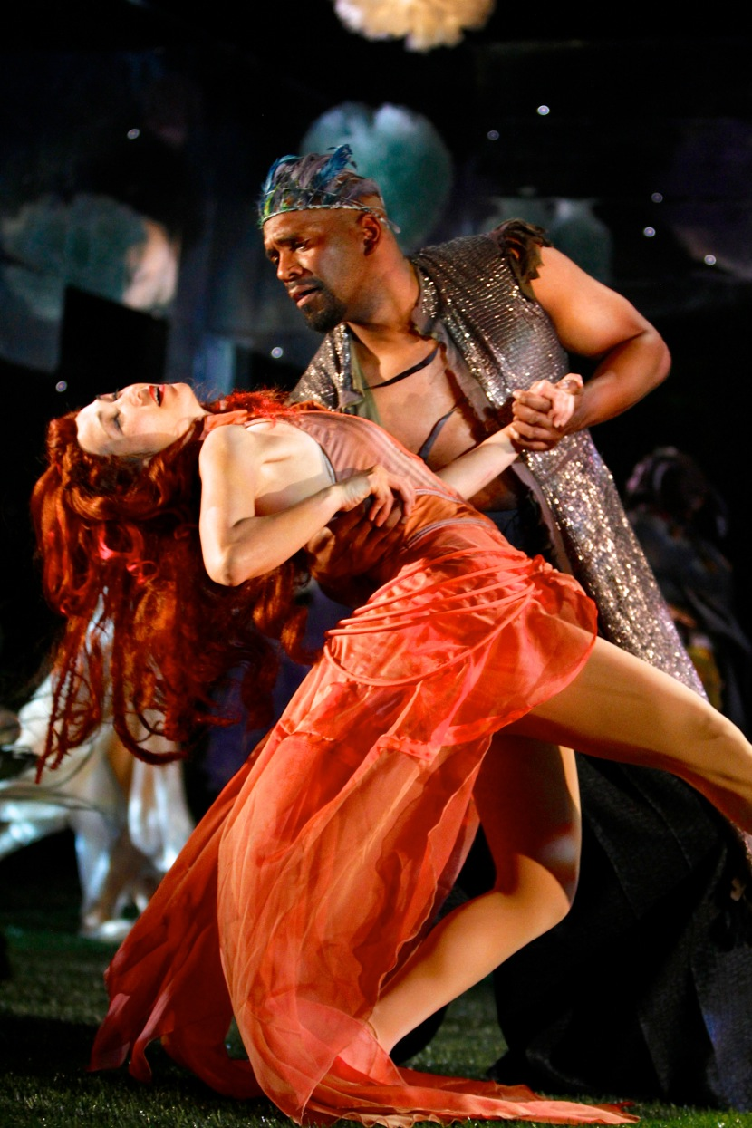 Kimiye Corwin (Hippolyta/Titania) and Lindsay Smiling (Theseus/Oberon).Photo: Michael Davis