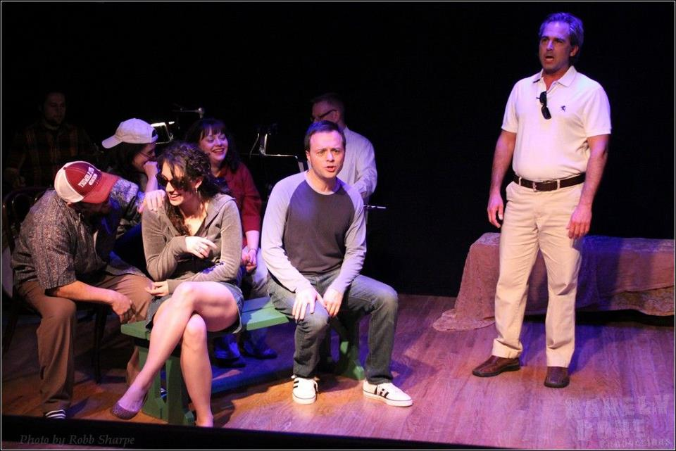 Living in 'Falsettoland,' the cast watches a normal, Jewish baseball game. Photo: Ty Marshal