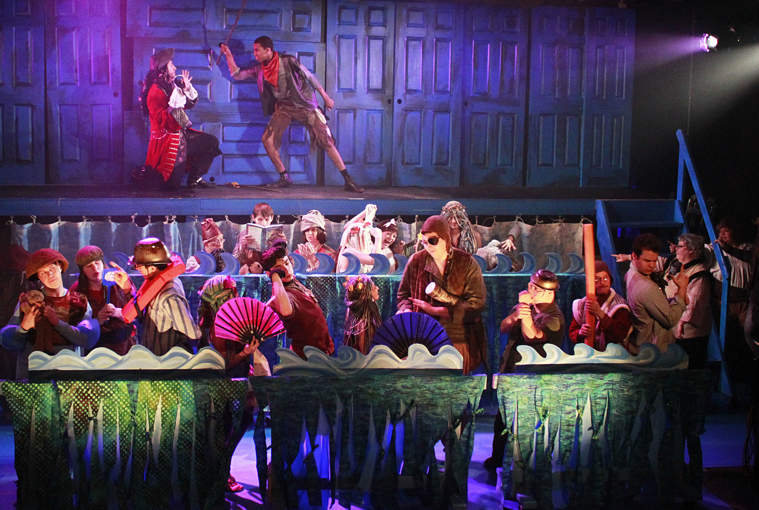 The cast of 'Peter Pan' at the Redhouse.  Photo: Teri Dobrzynski