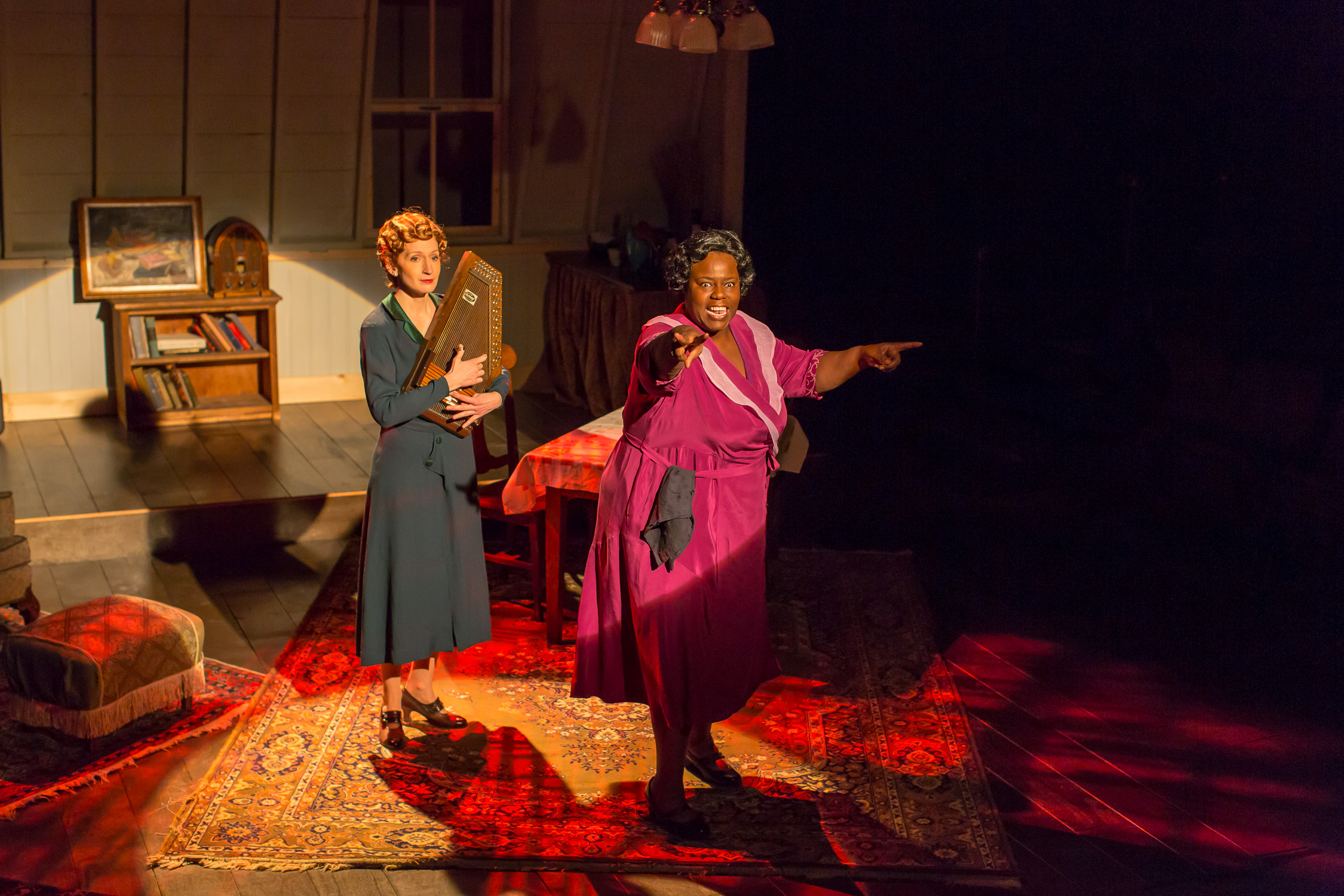 Emily Dorsch and Lisa Gaye Dixon in the Kitchen Theatre production of Black Pearl Sings! by Frank Higgins. Photo by Dave Burbank