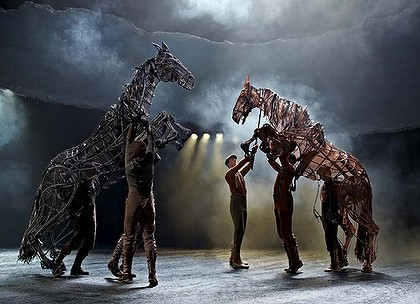 "The ""War Horse"" and their majestic and intricate stage puppets."