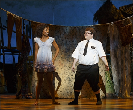 "Denee Benton and Cody Jamison Strand in ""The Book of Mormon."" Photo by Playbill.com."