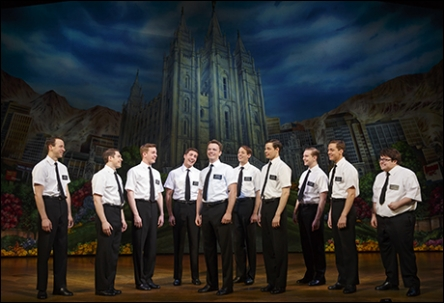"Cast of ""The Book of Mormon"" national tour. Photo by Playbill.com."