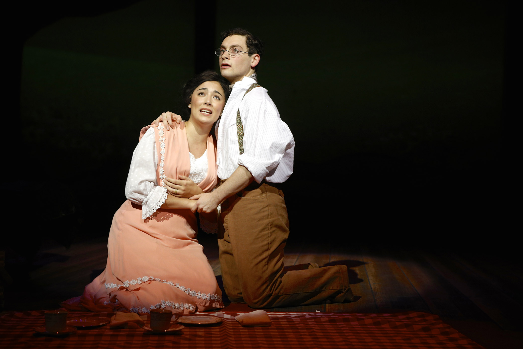 Ana Marcu and Ethan Saviet in the SU Drama production of Parade. Photographer Michael Davis.