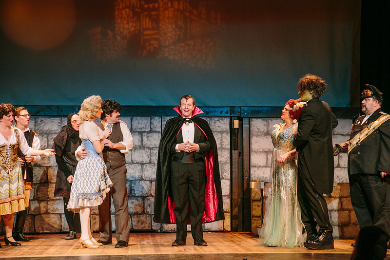 "The cast of ""Young Frankenstien"" at Baldwinsville Theatre Guild."