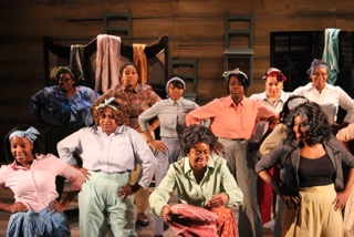 "The cast of ""The Color Purple"" at The Redhouse."