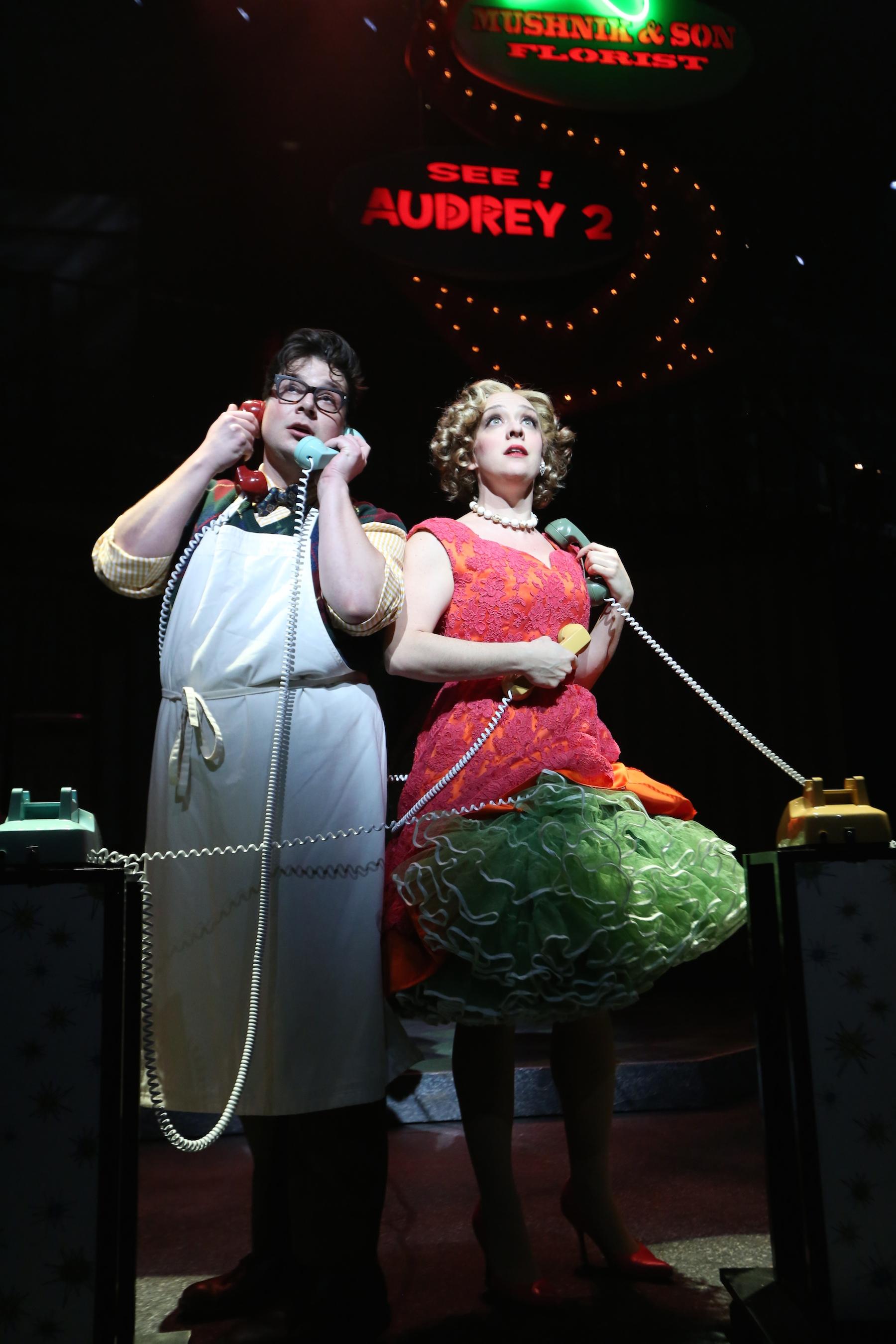 Seymour (Will Blum) and Audrey (Kristen Mengelkoch). Photo by Ken Huth.