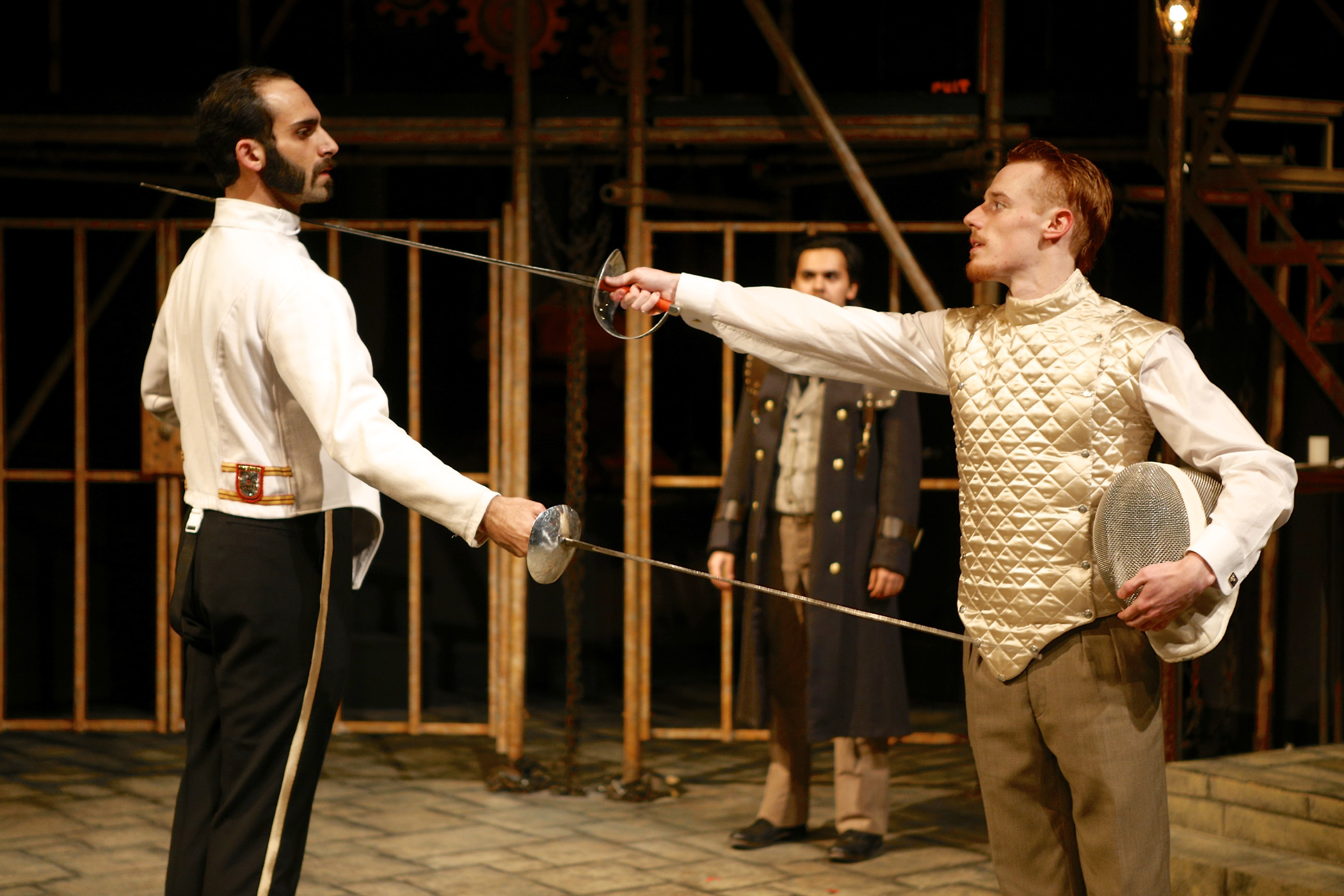 Alen Ghavami and Ezekiel Edmonds in the SU Drama production of William Shakespeare's Measure for Measure. Photo by Michael Davis.