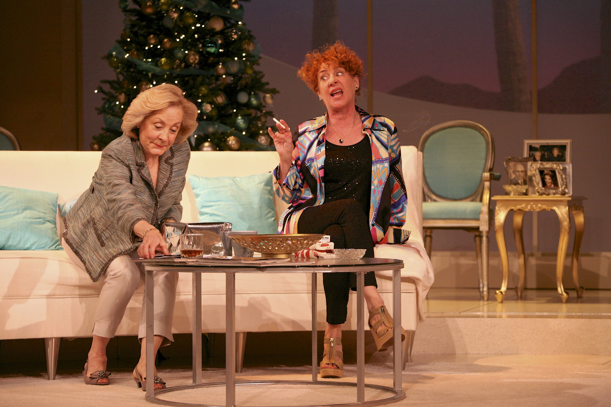 Barbara Broughton (Polly Wyeth) and Dori Legg (Silda Grauman) in Other Desert Cities by Jon Robin Baitz. Photo by Michael Davis.