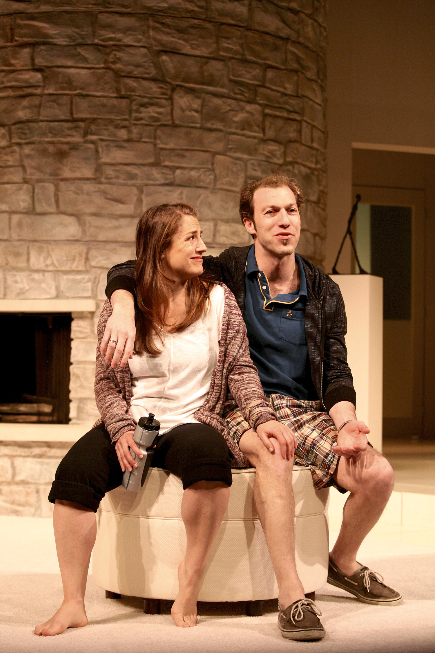 D'Arcy Dersham (Brooke Wyeth) and Joel Reuben Ganz (Trip Wyeth) in Other Desert Cities by Jon Robin Baitz. Photo by Michael Davis.