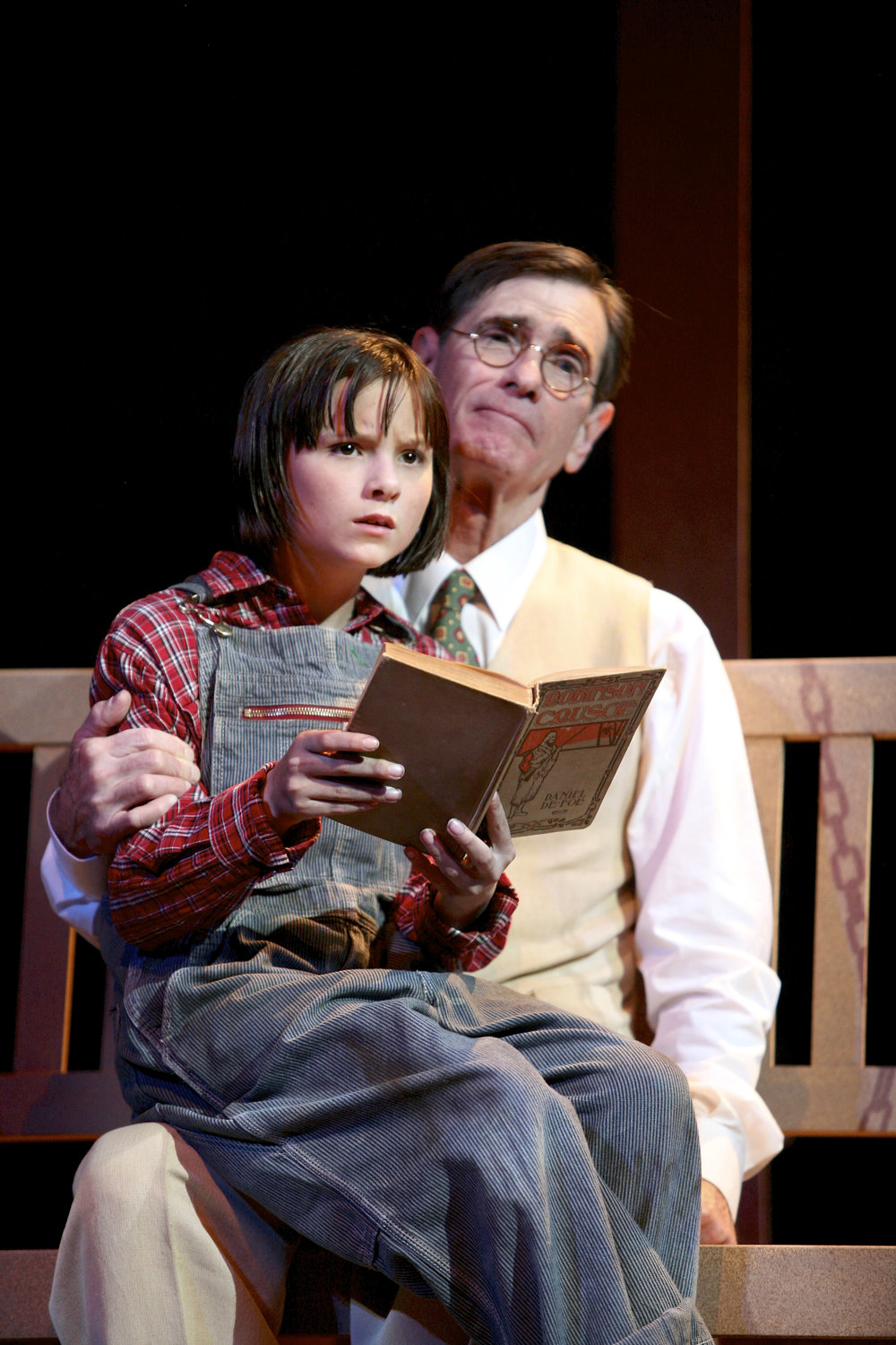 Mark Murphey (Atticus Finch) and Sera Bullis (Scout) perform in 'To Kill a Mockingbird.' Photo by Mike Davis.