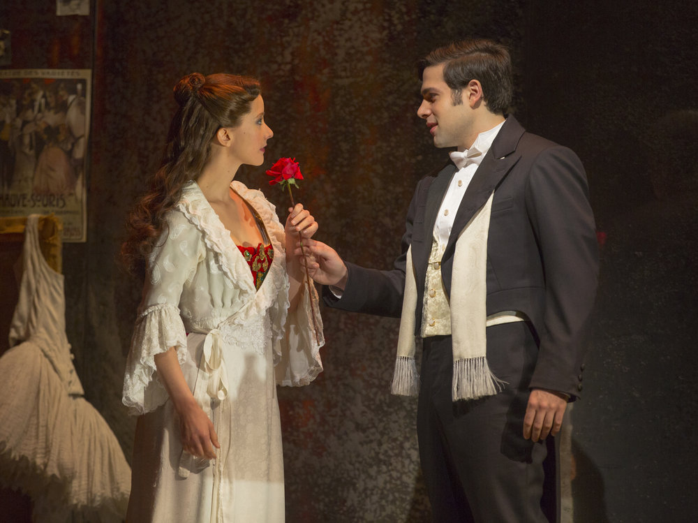 Katie Travis (Christine Daaé) and Storm Lineberger (Raoul). Photo by Matthew Murphy.