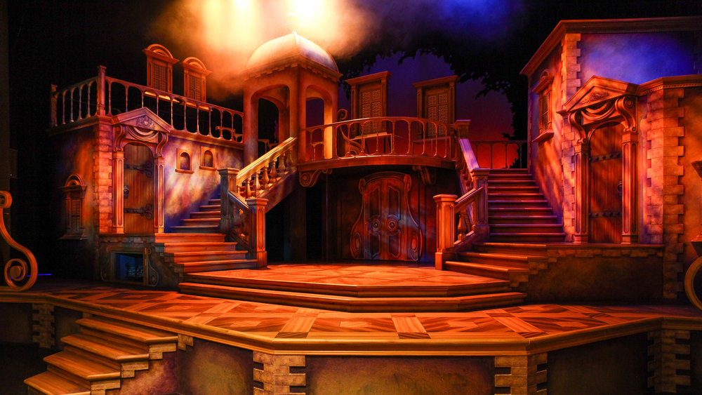 Syracuse Stage's 'The Three Musketeers' set, designed by Stanley A. Meyer. (Photo by Michael Davis)