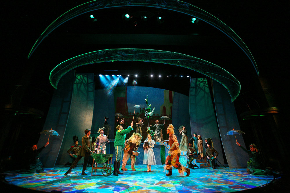 "Cast members in Syracuse Stage's production of ""The Wizard of Oz."" Photo by Michael Davis."