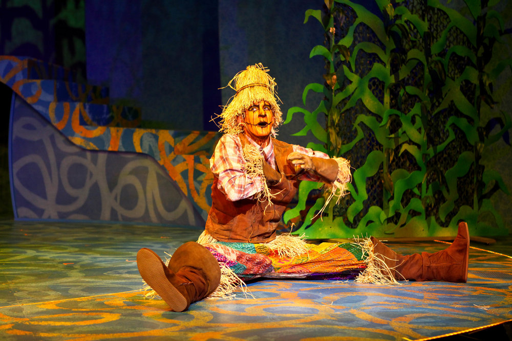 "Crawford Horton in Syracuse Stage's production of ""The Wizard of Oz."" Photo by Michael Davis."