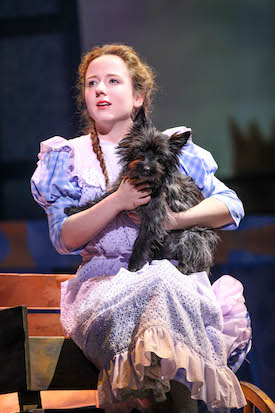 "Kate Jarecki in Syracuse Stage's production of ""The Wizard of Oz."" Photo by Michael Davis."
