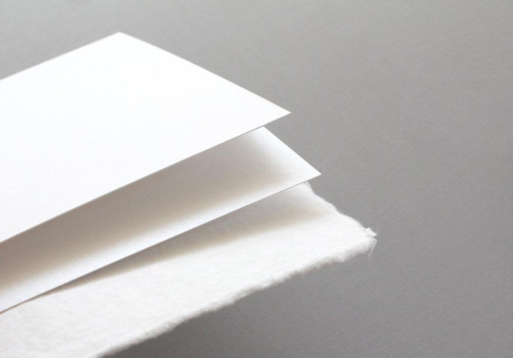 Matte paper, Metallic paper, Handmade paper
