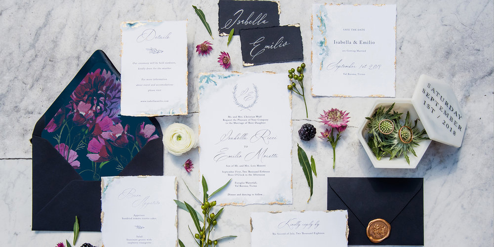 BESPOKE STATIONERY - Creating unique invitations that reflect your story as well as your wedding style in an artistic and subtle way using graphic elements, colors, papers and typography is our main goal.Contact Us