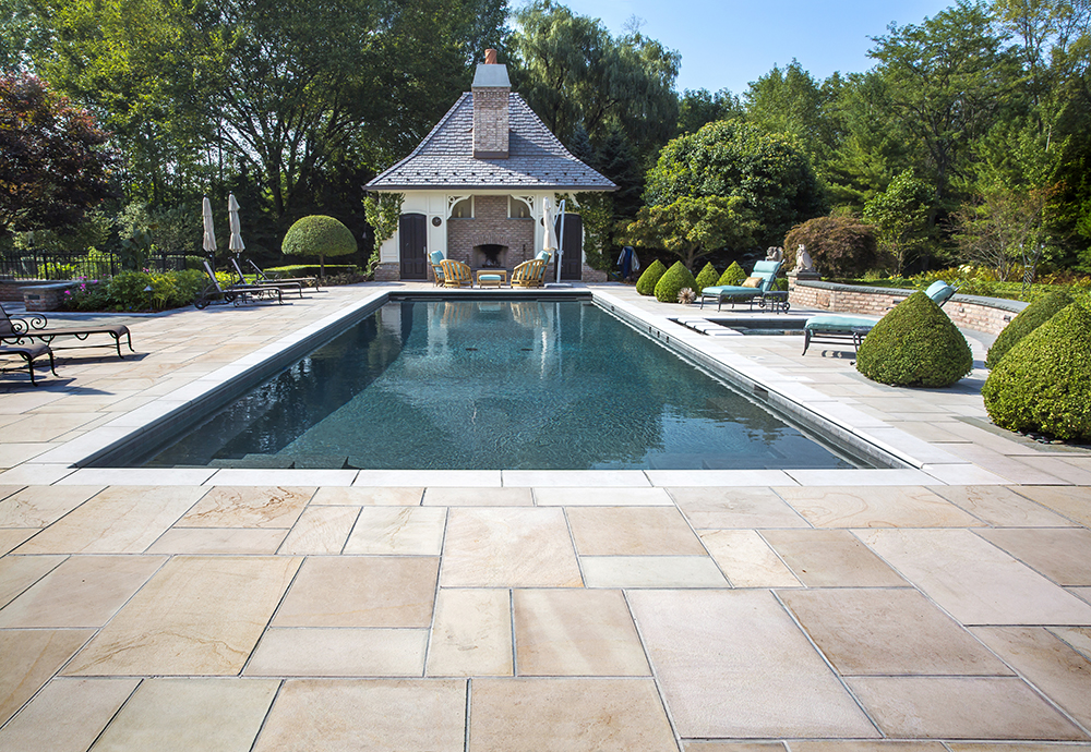 MATERIALS USED: UNILOCK CONCRETE PAVERS; INDIAN COAST