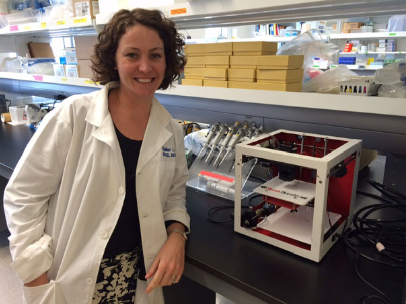 Dr. Kara Spiller in her lab at Drexel University with an Allevi Beta Unit.